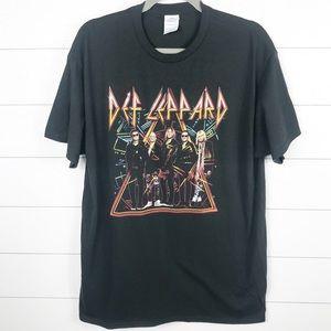 Def Leppard 2018 Tour T-Shirt Black Large